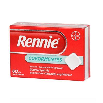 Rennie cukormentes rágótabletta, 60 db