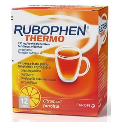 Rubophen thermo citrom ízű forróital 12 db