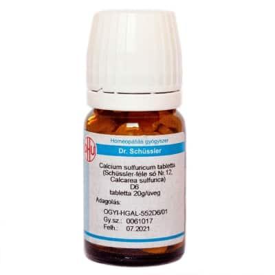 Schüssler-só Nr.12 calcium sulfuricum D6 80 db