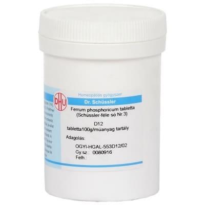 Schüssler-só Nr.3 ferrum phosphoricum D12 400 db