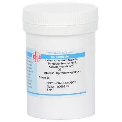 Schüssler-só Nr.4 kalium chloratum D6 400 db