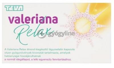 Valeriana relax lágyzselatin nyugtató kapszula 60 db
