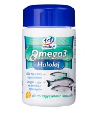 1x1 Vitaday omega3 halolaj kapszula 60 db
