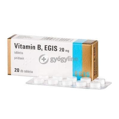 Egis vitamin B6 20 mg tabletta 20 db