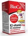 Bioco K2-vitamin 50 µg D3-vitaminnal gyermekeknek rágótabletta 60 db