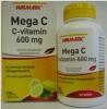 Walmark mega C-vitamin 600 mg tabletta citrom 100 db