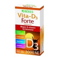 Béres Vita-D3-vitamin Forte 3000 NE filmtabletta, 60 db