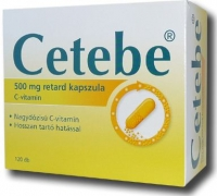 Cetebe 500 mg C-vitamin retard kemény kapszula 120 db