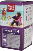 Kulcspatika Multi-Tabs Omega-3 Kid feketeribizlis kapszula, 30 db