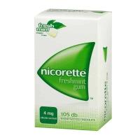 Nicorette freshmint gum 4 mg gyógyszeres rágógumi 105 db
