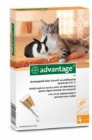 Advantage bolha ellen macskáknak és nyulaknak 4 kg alatt 40 mg 4 db