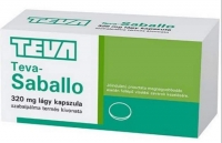 Teva-Saballo 320 mg lágykapszula