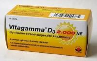 Vitagamma D3 2000NE étrendkiegészítő tabletta, 100 db